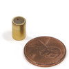 "SmCo26 Cylinder Magnet  1/4"" x 3/8"" Brass Shielded Samarium Cobalt Magnets"