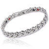 Quad-Element Silver Stainless Steel Magnetic Butterfly Bracelet