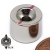 """1/2""""x 3/8"""" Neodymium Disc Magnet w/6 Countersunk Hole on Both Sides"""