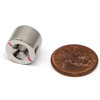 "1/2""x 3/8"" Neodymium Disc Magnet w/6 Countersunk Hole on Both Sides"