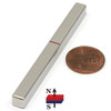 "N52 3""x 1/4""x 1/4"" Neodymium Rare Earth Bar Magnet"