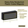 "N52  1""x1/2""x1/4"" Rare Earth Plastic Coated Magnet"