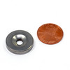 "N52 3/4"" x 1/8"" Shatter Resistant Magnet w/ #8 Countersunk Hole Stainless Steel Covered"