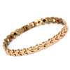 Magnetic Therapy Ankle Bracelet By Novoa, Women's Magnetic Butterfly Ankle Bracelet in Gold Stainless Steel 12,800 Gauss