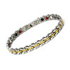Magnetic Butterfly Ankle Bracelet in Silver & Gold Stainless Steel