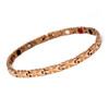 Magnetic Therapy Ankle Bracelet By Novoa, Women's Magnetic Ankle Bracelet in Rose Gold Two Tones Stainless Steel 12,800 Gauss