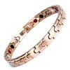 Magnetic Bracelet Novoa Women's Quad-Element Stainless Titanium Two-Tone Rose Gold - B101QM