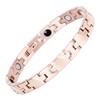 Magnetic Bracelet Novoa Women's Quad-Element Elegant Stainless Titanium  Rose Gold - B184QM