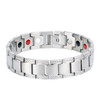 Magnetic  Bracelet Novoa Men's Quad-Element Titanium Two-Tone Silver B450