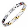Magnetic  Bracelet Novoa Men's Quad-Element Titanium Gold Silver B234J