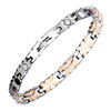 Magnetic Bracelet Novoa Women's Quad-Element Titanium Silver-Rose Gold Lucky-Clover B397M