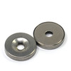 "N52 0.78"" x 1/8"" Shatter Resistant Magnet w/ #8 Countersunk Hole Stainless Steel Covered"