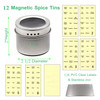 12 Magnetic Spice Tins w/ Window Top & Sift-Pour | Storage Spice Containers,  Rack Magnetic On Refrigerators, Fridges and Cabinet Doors