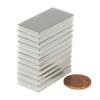 "N45 Neodymium Magnet 1 1/2x3/4x1/16"" Rectangular Rare Earth Magnet Flat Magnet"
