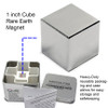 "1"" Neodymium Rare Earth Cube Magnet with team box"