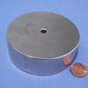 "N45 3-1/2""OD x 1/4""ID x 1"" Neodymium Rare Earth Ring Magnet"