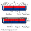 large neodymium countersunk Cup Magnets