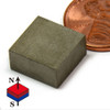 "Block SmCo Magnets SmCo Magnets Block 1/2X1/2X1/4"" Samarium Cobalt Magnets 608 F Temperature"