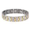 """<img src="""" Magnetic Bracelet Novoa mens Titanium.png"""" alt=""""Magnetic Bracelet Novoa Titanium Men's Satin With Gold Accent  """">"""