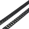 Novoa Men 's Titanium Two-Tone Black Satin Magnetic Bracelet with Polished Accents