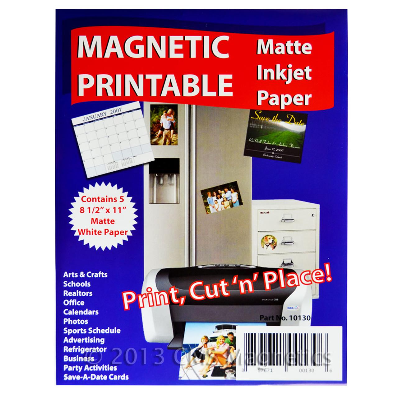 magnetic paper inkjet a4a matte white
