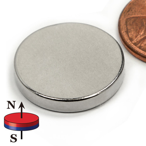"3/4X1/8"" NdFeB Rare Earth Disc Magnet"