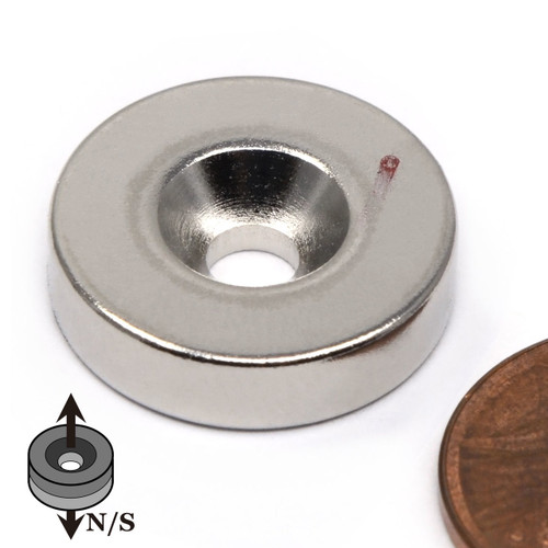 Neodymium Rare Earth Disc Magnet w/ #8 Countersink