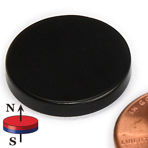 "3/4X1/8"" NdFeB Disc Magnet Epoxy coated"