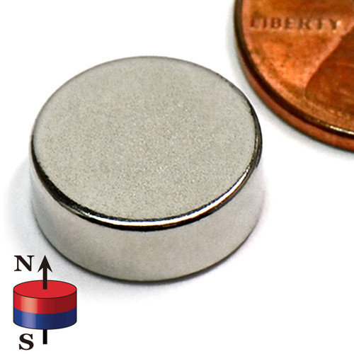 "1/2 x 3/16"" NdFeB Rare Earth Disc Magnet"