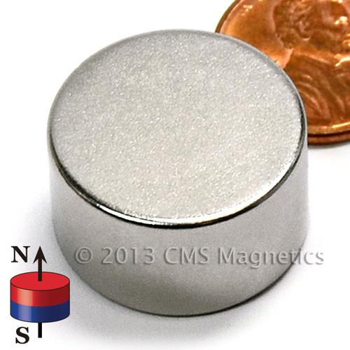 """Disc Neodymium Magnet Neodymium Disc Magnet Rare Earth N52 7/8""""x1/2"""" (ND0490-52N)"""