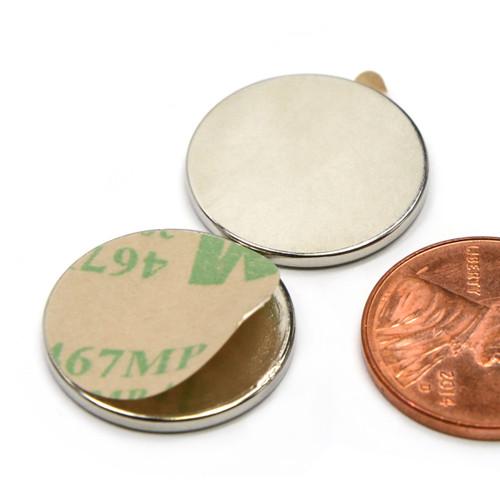 """3/4""""x1/16"""" Neodymium Magnet w/ 3M Adhesive"""
