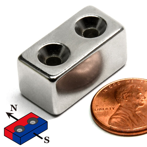 Rectangular neodymium Magnets w/ holes