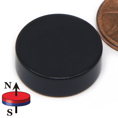 "N42 3/4""x1/4"" Neodymium Rare Earth Disc Magnet Epoxy Coated"