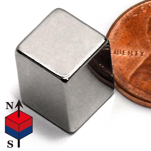 "N50 3/8x3/8x1/2"" NdFeB Rare Earth Magnet"