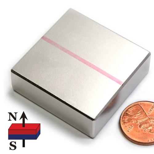 """1-1/2""""x1-1/2""""x1/2"""" Neodymium Rare Earth Block Magnet"""
