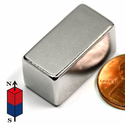 "1/2 x1/2 X1"" Neodymium Magnet"