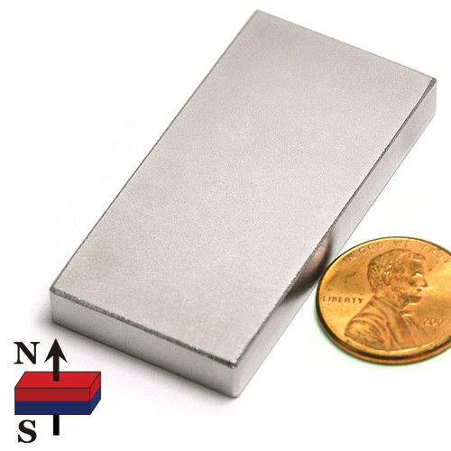 "2x1x1/4"" NdFeB Rare Earth Rectangle Magnet"