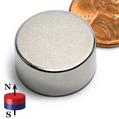 "3/4X3/8"" NdFeB Rare Earth Disc Magnet"