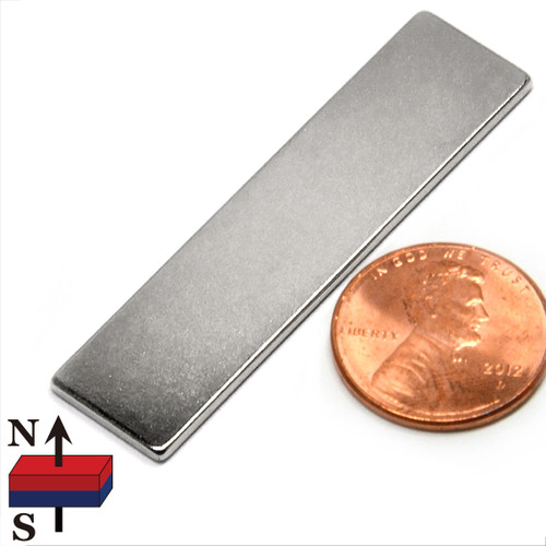 "2""x1/2""x1/16"" NdFeB Rare Earth Magnets"