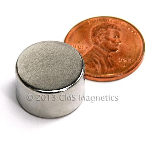 """N35 Disc Neodymium Magnets Rare Earth Magnets Dia 0.63"""" x 0.32"""""""