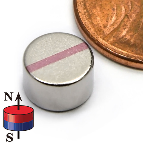 "Cylinder Magnet Neodymium  N52 5/16""x3/16"""