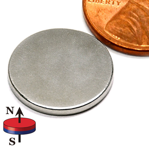 "5/8x1/16"" NdFeB Rare Earth Disc Magnet"