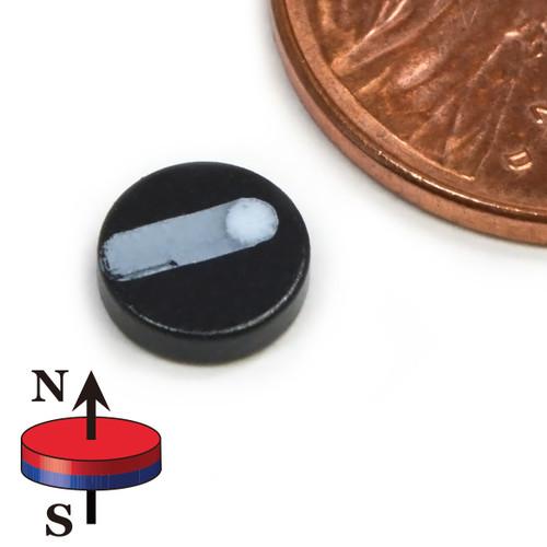 "N52 1/4""x1/16"" Neodymium Rare Earth Disc Magnet Epoxy Coated"