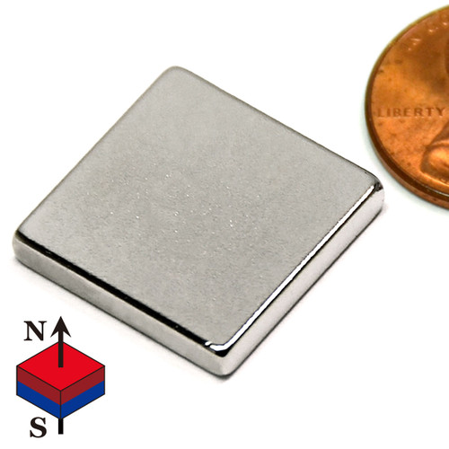 "3/4x3/4x1/8"" NdFeB Rare Earth Magnets"