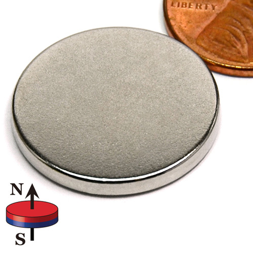 "7/8X1/10"" NdFeB Rare Earth Disc Magnet"