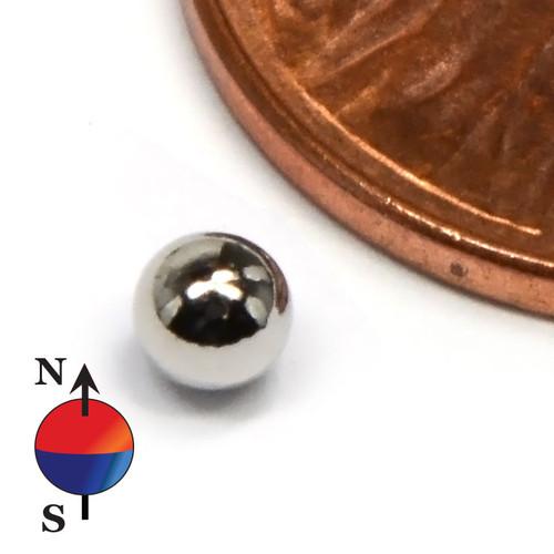 1/8 th inch neodymium sphere magnet