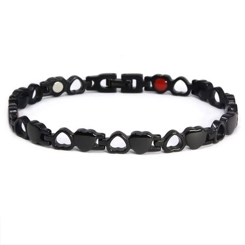 "<img src="" womens  magnet bracelet .png"" alt=""casual magnetic therapy jewelry  side view Magnetic bracelet Novoa Women 's Quad-Element 12,800 Gauss B185QD "">"