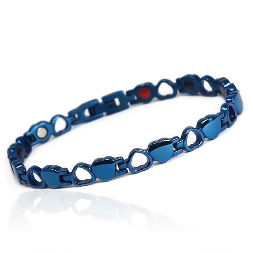 """<img src="""" womens  stainless  .png"""" alt=""""casual magnetic therapy jewelry  strong  top view       Magnetic  bracelet Jewelry Novoa Women 's - 12,800 Gauss B185QN  """">"""