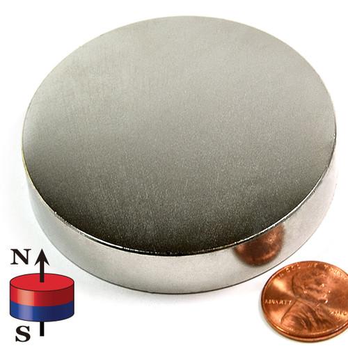 """2 1/2""""X1/2"""" NdFeB Rare EarthN52 Neodymium Disc Magnet 2-1/2""""x1/2"""" Rare Earth Disc Magnet"""