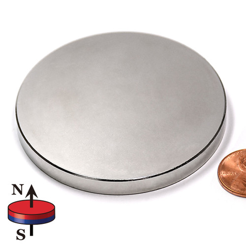 "2 1/2 x 1/4"" N45 Neodymium Magnet"